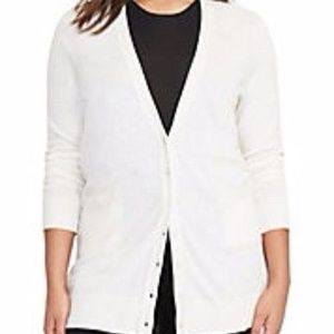 NEW RALPH LAUREN Long Boyfriend Cardigan 1X 2X